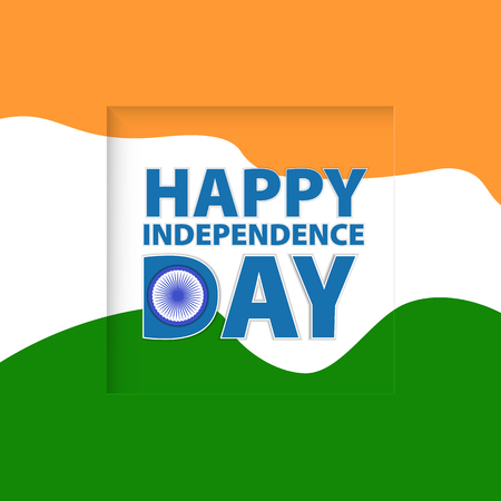 Greeting card. Independence Day of India. Vector illustration