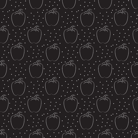 pepper. Seamless pattern with dots on a dark background Illustration