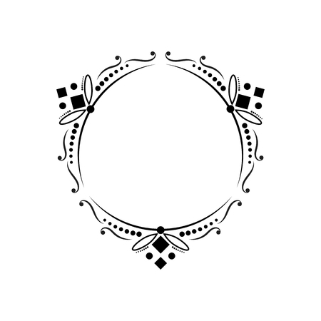 certificate template: Contour black vintage classic elegant contoured frame