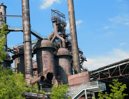 Abandoned steel plant Old Bethlehem Steel Plant in Bethlehem, Pennsylvania