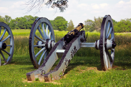 Blue cannon in the park