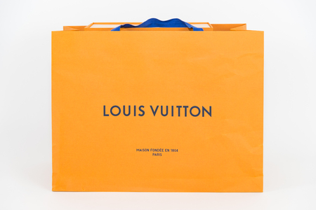 Philadelphia, Pennsylvania, USA - MAY 24, 2018: Louis Vuitton box. Louis Vuitton is a designer fashion brand known for its leather goods.