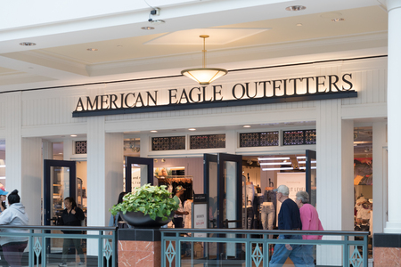 Philadelphia, Pennsylvania, May 19 2018: American Eagle outfitters Store Front.