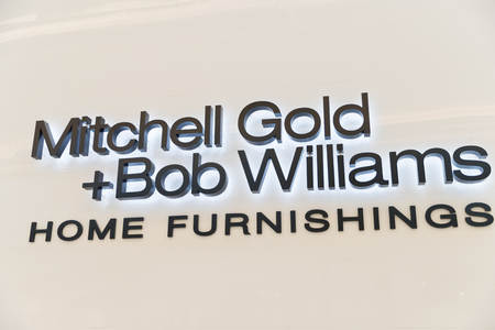 Philadelphia, Pennsylvania, May 19 2018: Mitchell Gold and Bob Williams is a residential and commercial furniture manufacturer Редакционное