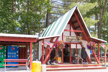 Elysburg, PA June 24 2018: Knoebels is a free-admission amusement park for families.