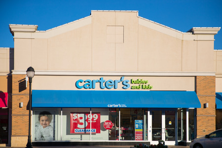 Philadelphia, Pennsylvania, June 19, 2018: Carter's at store front at the outlet mall