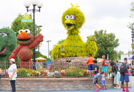 Langhorne, PA July 21, 2018: Sesame Place is a children's theme park, located on the outskirts of Philadelphia, Pennsylvania based on the Sesame Street television program. 에디토리얼