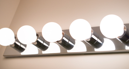 Lights in a bathroom closeup - Image