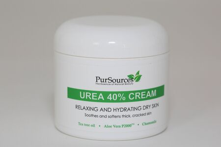 Princeton, NJ June 4, 2019: PurSources Urea 40% Foot Cream 4 oz - Best Callus Remover - Moisturizes & Rehydrates Thick, Cracked, Rough, Dead & Dry Skin - For Feet, Elbows and Hands