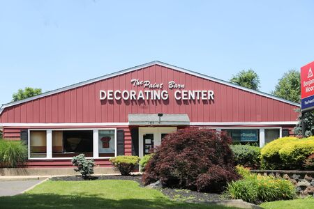 Princeton New Jersey - June 23, 2019: THE PAINT BARN, INC.- Benjamin Moore Paint Store front.