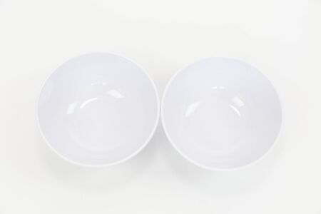 Empty Plastic Bowl , Clipping path , isolated on white - Image