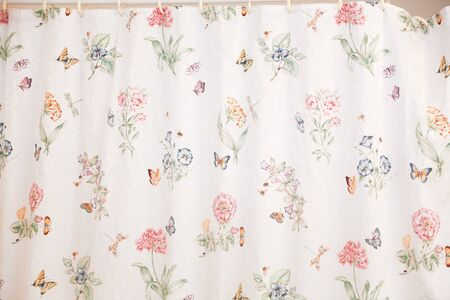 Bathroom with shower curtain. - Image 写真素材