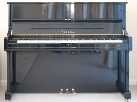 Princeton NJ-17 September 2019: Yamaha piano keyboard closeup-Image 報道画像