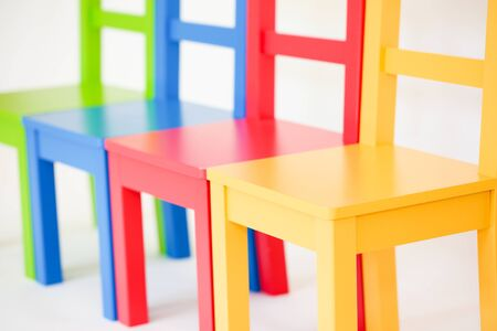 Colorful chair in a white background - Image