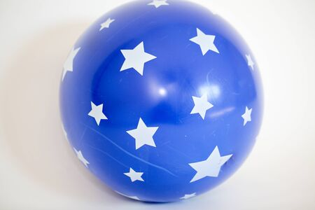Blue gym ball great for your exercise isolated on white background - Image 写真素材 - 132383653