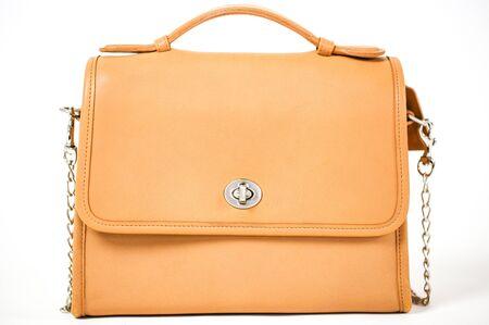 Vintage womens handbag isolated on white background - Image