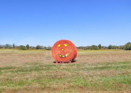 Halloween straw bale - Image