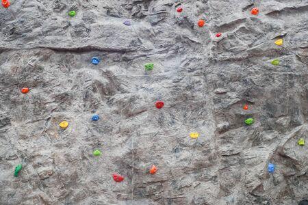 Grey wall. climbing a rock wall indoor - Image - Image 写真素材 - 133611349