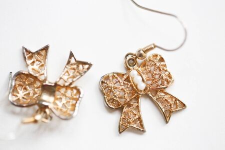 Set of fashion earrings and decorations - Image Reklamní fotografie