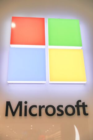 New York November 28 2019: Microsoft store in midtown Manhattan. Microsoft is one of the world's largest software, hardware and video gaming companies.-Image