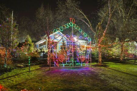 Princeton New Jersey November 12 2020: light show in New Jersey-Image