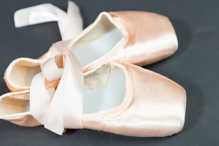 Closeup of a pair of dance shoes, ballet pointe shoes, and character shoes representing of dance classes in one image. Reklamní fotografie