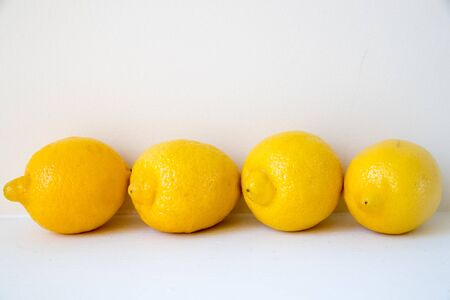 Creative layout made of lemon. Flat lay. Food concept. Lemon on white background. Reklamní fotografie