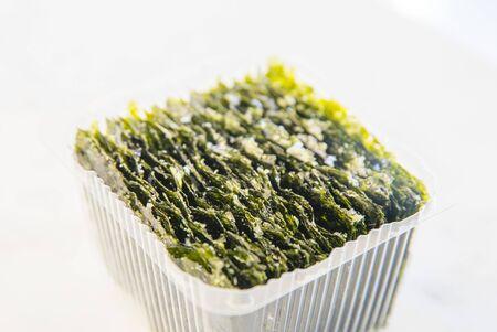 crispy dried seaweed on the table-Image