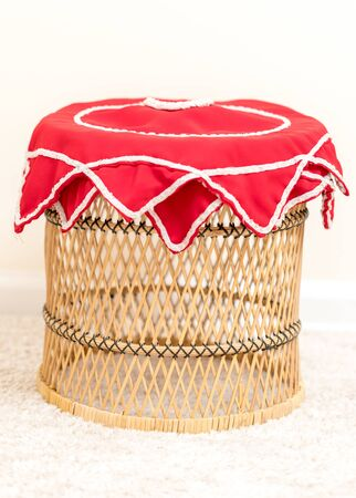 Handkerchiefs on the wicker table-Image 写真素材