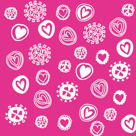 heart shaped stuff: Seamless pattern with for design Abstract background