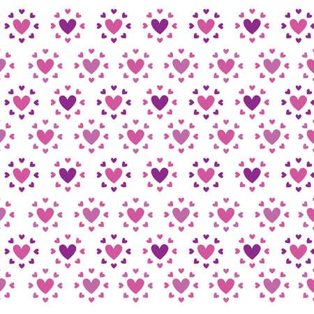 heart shaped stuff: seamless pattern with hearts Illustration