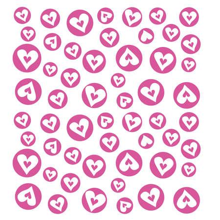 heart shaped stuff: Seamless pattern Background Illustration
