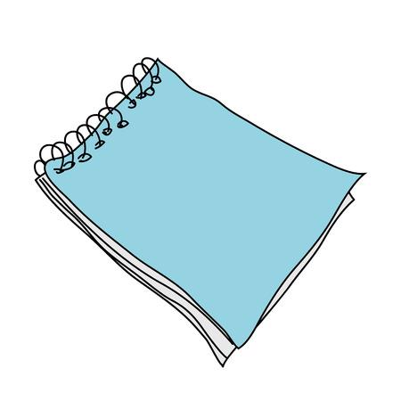 handbook: Blank book over white background