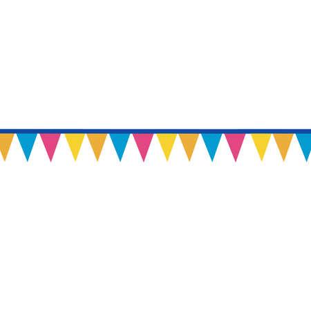 triangle flag: colourful triangle flag