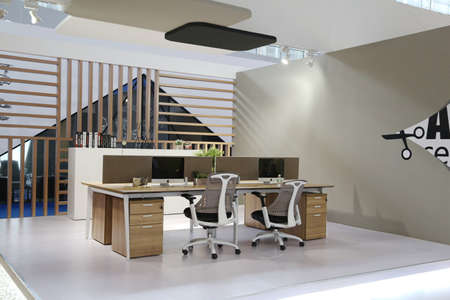 office environment: Clean and elegant office environment