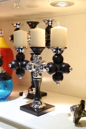 candleholder: Candleholder decorative Stock Photo