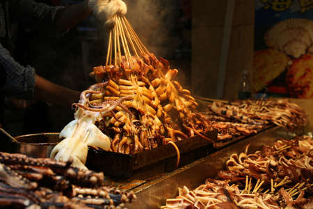 gastronome: Chinese Chef making Iron Squid