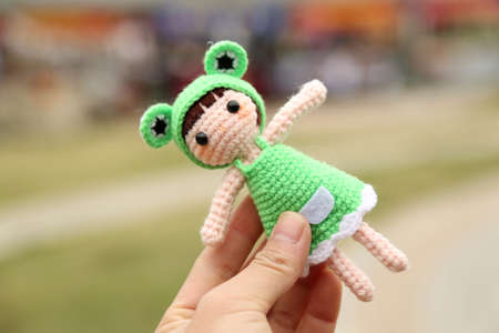 Cute knitted toy