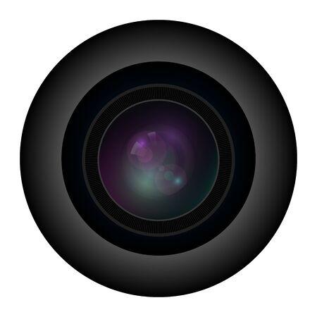 Camera photo lens. Vector illustration
