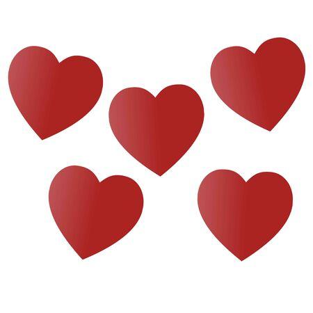 Día de San Valentín. Corazones coloridos y multicolores. Ilustración de vector. Resumen. Amor