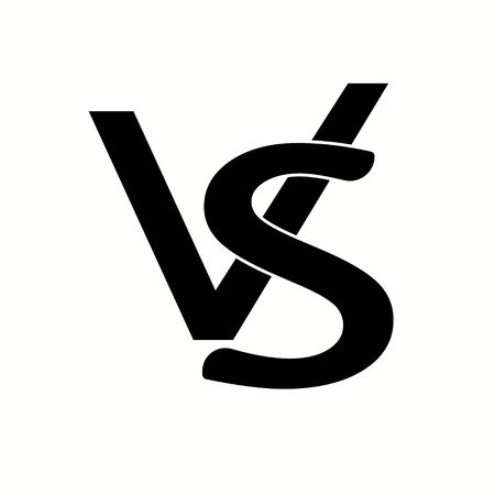 Versus logo isolated on white background. VS concept. Vector illustration