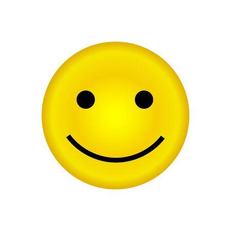 Emoticon icon, emoji isolated on white background