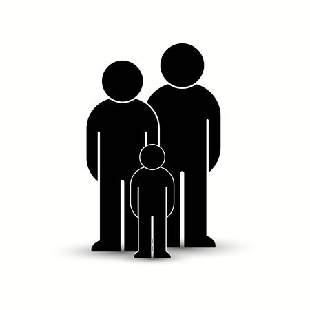 Pack of flat style people, family, couple, crowd icons isolated on white. Black infographics teamwork, leadership, personality, revolution, election, turn, administration, management concept. Vector Banque d'images - 129210636