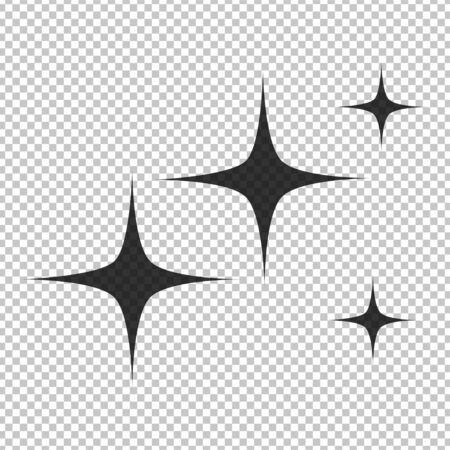 Des fusées éclairantes noires de style plat simple isolées sur fond transparent. Illustration vectorielle