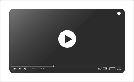 Classic video player template. Vector illustration