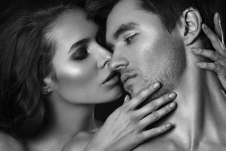 Sexy couple kissing photo