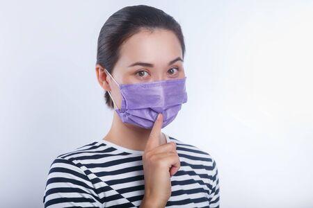 Asian women wear protective mask. Conception about health-care Reklamní fotografie