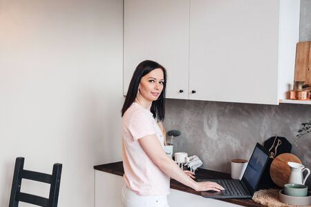 Business Woman working at home during virus infection and pandemic