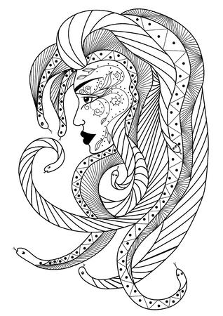 medusa: Medusa head.