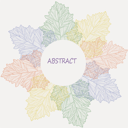 flimsy: Leaf color abstract background. Vector Illustration